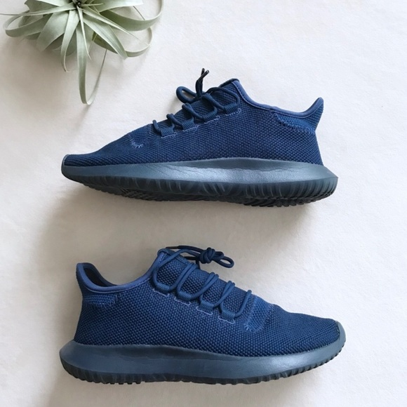 Euc Adidas Tubular Shadow Blue Sneakers